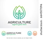agriculture logo template... | Shutterstock .eps vector #664507096