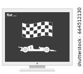 race car icon. | Shutterstock .eps vector #664512130