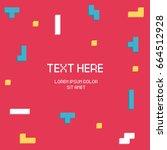 vector cyber tetris figure...   Shutterstock .eps vector #664512928