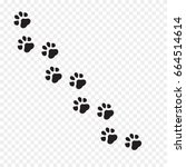 Stock vector paw print vector illustration 664514614
