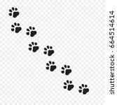 paw print vector illustration. | Shutterstock .eps vector #664514614
