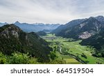 view from burgruine falkenstein ...   Shutterstock . vector #664519504