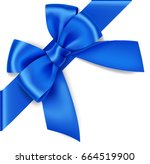 Decorative Blue Bow With...