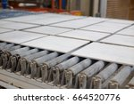 production line with ceramic... | Shutterstock . vector #664520776