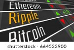 Stock photo ripple crypto currency market as concept financial markets and virtual currency values d 664522900