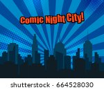 colorful comic page template... | Shutterstock .eps vector #664528030
