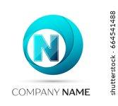 letter n logo symbol in the...   Shutterstock . vector #664541488