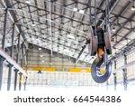 close up crane hook for...   Shutterstock . vector #664544386