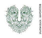 illustration of a green man... | Shutterstock . vector #664545508