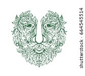 illustration of a green man... | Shutterstock .eps vector #664545514