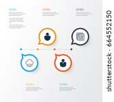 web icons set. collection of... | Shutterstock .eps vector #664552150