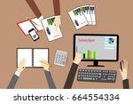 team business man's job .... | Shutterstock .eps vector #664554334