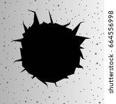 cracked wall vector background   Shutterstock .eps vector #664556998