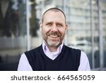 portrait of smilingl... | Shutterstock . vector #664565059