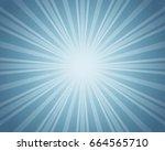 light blue color burst...   Shutterstock . vector #664565710