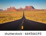 classic panorama view of... | Shutterstock . vector #664566193