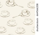 seamless vector pattern with... | Shutterstock .eps vector #664566208