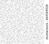 geometric black and white... | Shutterstock .eps vector #664569028