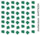 fig leaf pattern vector | Shutterstock .eps vector #664576204