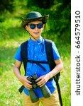 Ten Year Old Boy Go Hiking Wit...