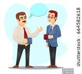 vector cartoon illustration of... | Shutterstock .eps vector #664582618