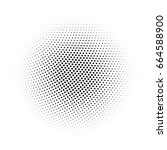 black abstract halftone circle... | Shutterstock .eps vector #664588900