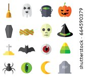 a set of collection of simple... | Shutterstock .eps vector #664590379