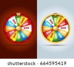 realistic 3d spinning fortune...   Shutterstock .eps vector #664595419