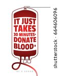 be a donor. creative motivate... | Shutterstock .eps vector #664606096