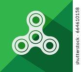 fidget spinner icon | Shutterstock .eps vector #664610158