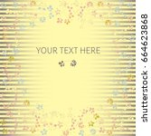 floral background. pattern... | Shutterstock .eps vector #664623868