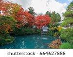 shoyo en  japanese garden in...   Shutterstock . vector #664627888
