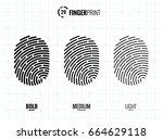 vector fingerprint icons set ...