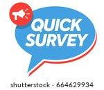 quick survey badge vector....   Shutterstock .eps vector #664629934