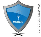 mobile vector and shield...