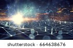 global wireless connection... | Shutterstock . vector #664638676