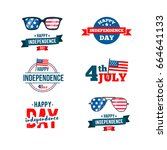 independence day 4th of july...   Shutterstock .eps vector #664641133