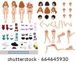 woman in bikini. female...   Shutterstock .eps vector #664645930
