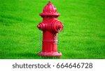 Fire Hydrant On Green Lawn