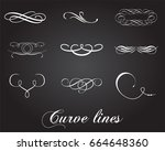 typographic elements. curve... | Shutterstock .eps vector #664648360