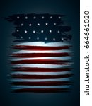 flag of united states | Shutterstock .eps vector #664661020