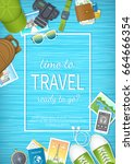 time to travel web banner... | Shutterstock .eps vector #664666354