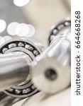 metal industry  a factory in... | Shutterstock . vector #664668268
