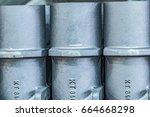 metal industry  a factory in... | Shutterstock . vector #664668298