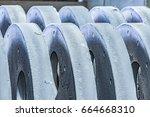 metal industry  a factory in... | Shutterstock . vector #664668310