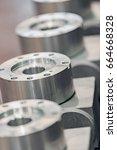metal industry  a factory in... | Shutterstock . vector #664668328