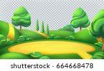 nature landscape. park isolated ... | Shutterstock .eps vector #664668478