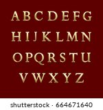 Gold Metal Letters. Vector...