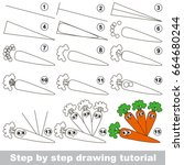 kid game to develop drawing... | Shutterstock .eps vector #664680244