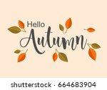 autumn background illustration... | Shutterstock .eps vector #664683904